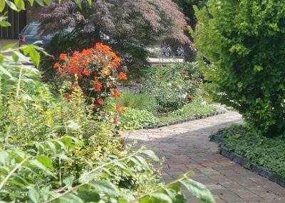 Der Garten Brand- nachher