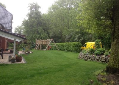 Der Garten Kessen - vorher