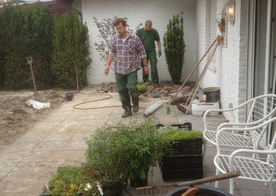 Der Garten Klumpe - vorher