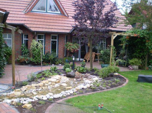 Der Garten von Renate und Bernhard Vahrmann aus Bösel