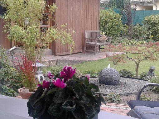 Der Garten von Karin und Udo Mählmann aus Cloppenburg