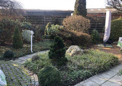 Der Garten Klinker - vorher