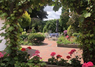 Der Garten Klinker - nachher