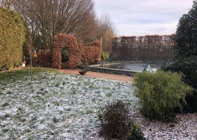 Garten vorher